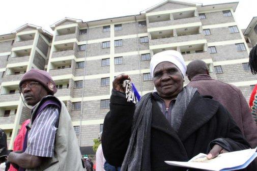 Joy As 691 Kibera Residents Receive Keys To New Houses
